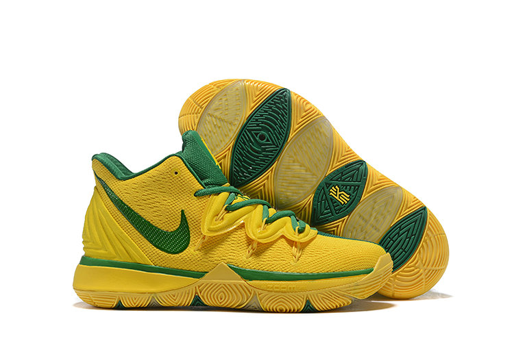 Cheapest Wholesale Nike Kyrie 5 Irvings VI Grass Green Yellow - www.wholesaleflyknit.com