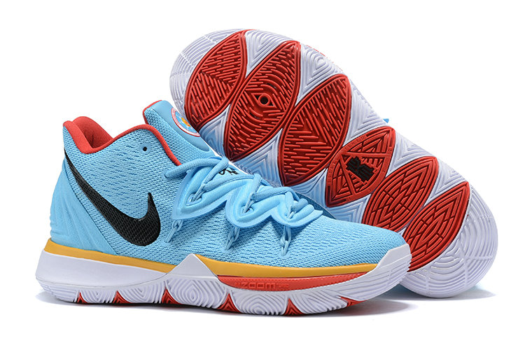 Cheapest Wholesale Nike Kyrie 5 Irvings VI Sky Blue Black Gold Red White - www.wholesaleflyknit.com