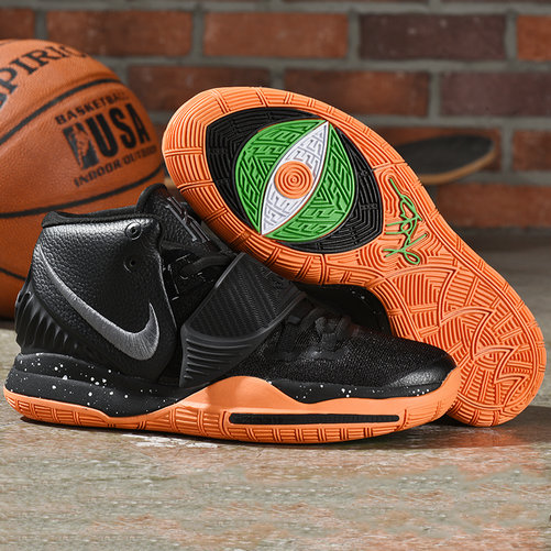 Nike Kyrie 6 Black Total Orange - www.wholesaleflyknit.com