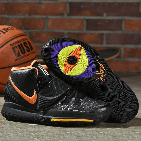 Nike Kyrie 6 Orange Black Yellow Grey - www.wholesaleflyknit.com