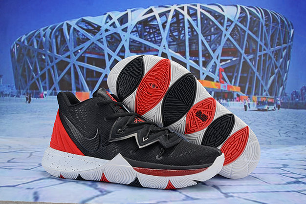 Cheap Wholesale Nike Kyrie Irving 5 Red Black White - www.wholesaleflyknit.com