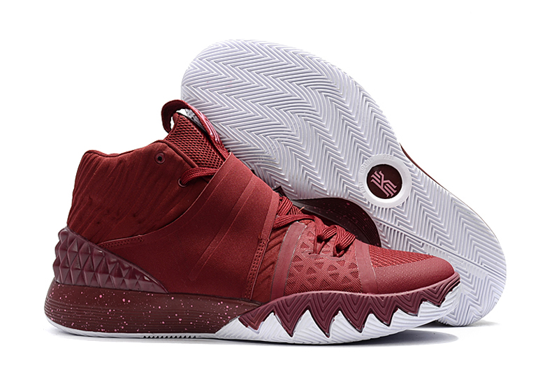 Wholesale Cheap Nike Kyrie S1 Hybrid Burgundy White For Sale - www.wholesaleflyknit.com