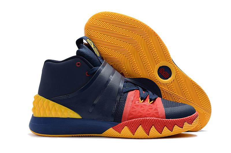 Wholesale Cheap Nike Kyrie S1 Hybrid Navy Blue Yellow-Red For Sale - www.wholesaleflyknit.com