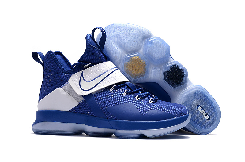 Wholesale Cheap Nike LeBron 14 Deep Royal Blue For Sale - www.wholesaleflyknit.com