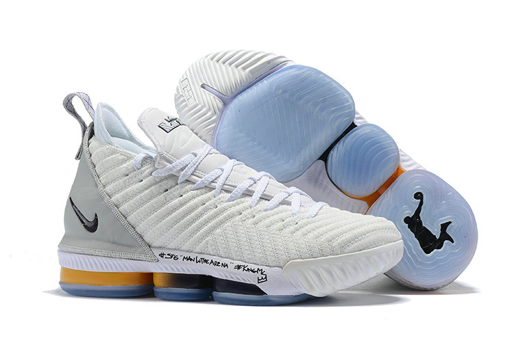 Cheapest Wholesale Nike LeBron 16 EP White Gold AO2588 056 Mens Basketball Shoes James Trainers - www.wholesaleflyknit.com