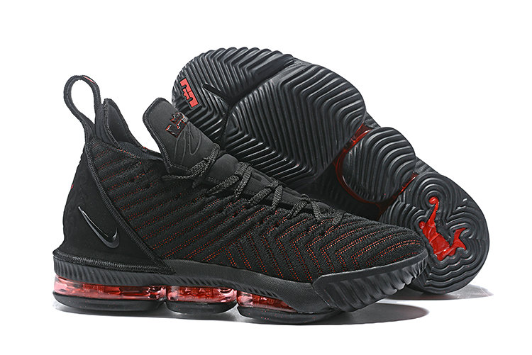 separation shoes ab090 5c6be Cheap Wholesale Nike LeBron 16 Fresh Bred AO2595-002 Black University Red-  www.