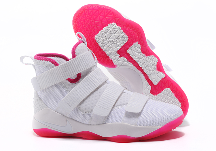 Wholesale Cheap Nike LeBron Soldier 11 Kay Yow White Pink For Sale - www.wholesaleflyknit.com