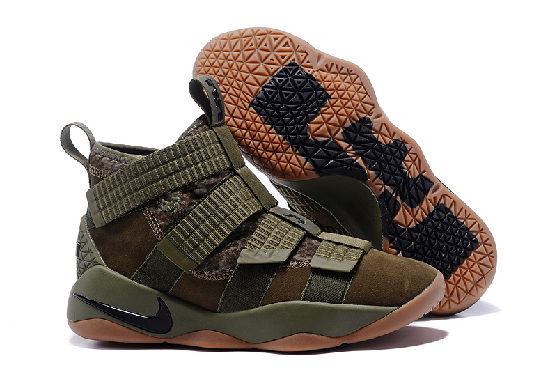 Wholesale Cheap Nike LeBron Soldier 11 Medium Olive For Sale - www.wholesaleflyknit.com