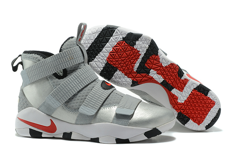 Wholesale Cheap Nike LeBron Soldier 11 Silver Bullet 2017 For Sale - www.wholesaleflyknit.com