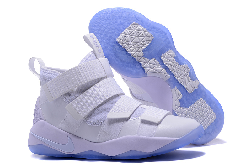 Wholesale Cheap Nike LeBron Soldier 11 White Ice For Sale - www.wholesaleflyknit.com