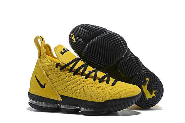 Cheapest Wholesale Nike Lebron 16 LBJ Yellow Black - www.wholesaleflyknit.com