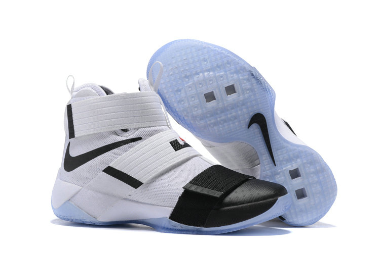Wholesale Cheap Nike Lebron Soldier 10 X Black White - www.wholesaleflyknit.com