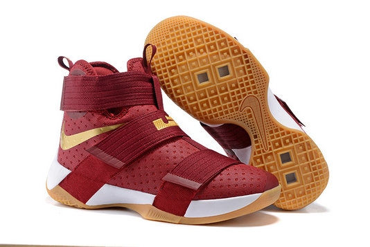 Wholesale Cheap Nike Lebron Soldier 10 X Gold RED Black - www.wholesaleflyknit.com