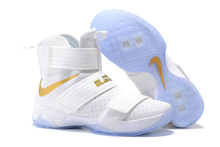 Wholesale Cheap Nike Lebron Soldier 10 X Gold White - www.wholesaleflyknit.com