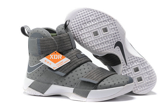 Wholesale Cheap Nike Lebron Soldier 10 X Grey White - www.wholesaleflyknit.com