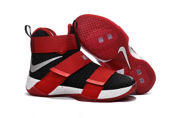 Wholesale Cheap Nike Lebron Soldier 10 X Red Black White Silver - www.wholesaleflyknit.com