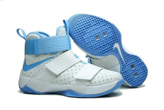 Wholesale Cheap Nike Lebron Soldier 10 X White Blue - www.wholesaleflyknit.com