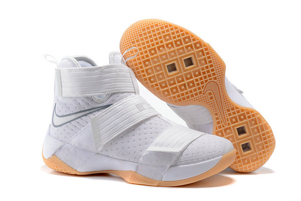 Wholesale Cheap Nike Lebron Soldier 10 X White Gold - www.wholesaleflyknit.com