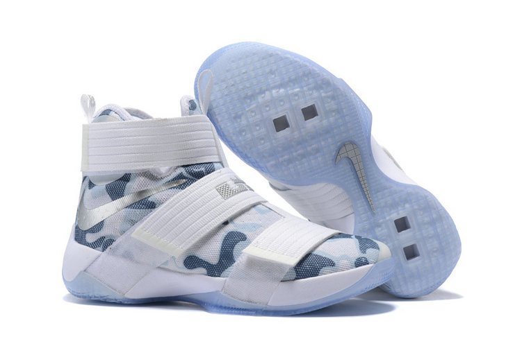 Wholesale Cheap Nike Lebron Soldier 10 X White Silver - www.wholesaleflyknit.com