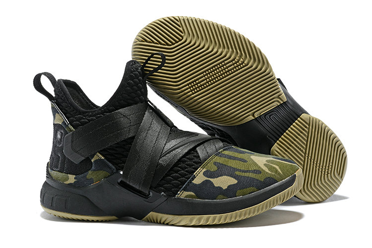 Cheapest Wholesale Nike Lebron Soldier 12 Army Green Black - www.wholesaleflyknit.com