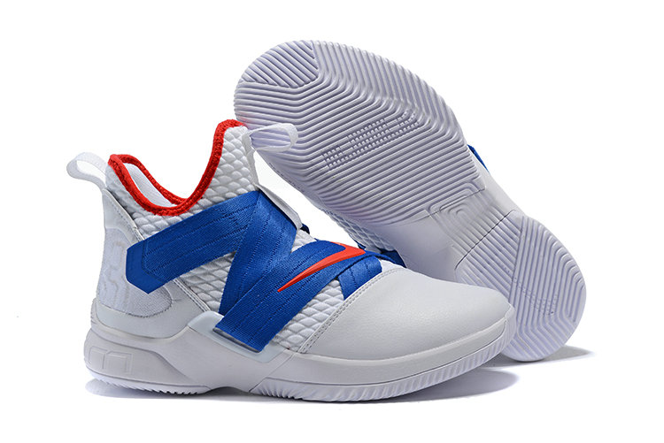 Cheapest Wholesale Nike Lebron Soldier 12 Blue Red White Black - www.wholesaleflyknit.com