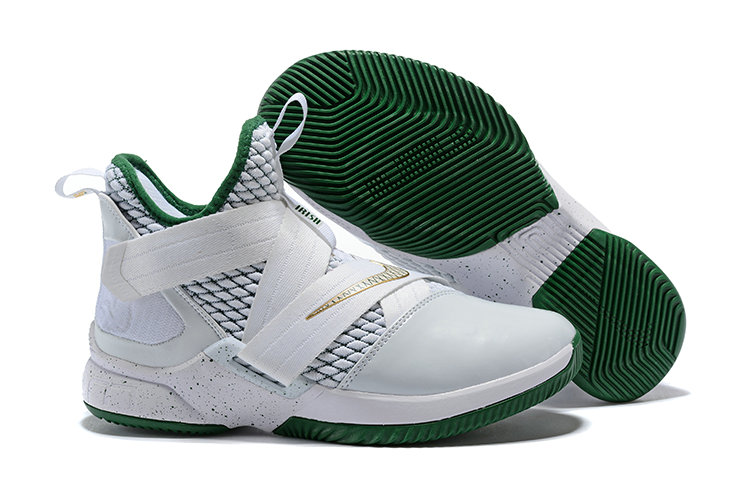 Cheapest Wholesale Nike Lebron Soldier 12 Green White - www.wholesaleflyknit.com