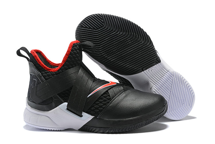 Cheapest Wholesale Nike Lebron Soldier 12 Red Black White - www.wholesaleflyknit.com
