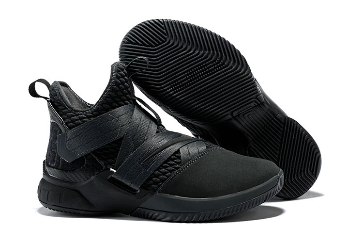 Cheapest Wholesale Nike Lebron Soldier 12 Triple Black - www.wholesaleflyknit.com