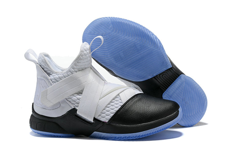 Cheapest Wholesale Nike Lebron Soldier 12 White Black - www.wholesaleflyknit.com