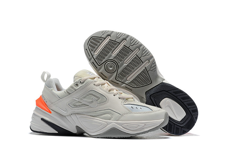 Cheap Wholesale Nike M2K TEKNO White Orange Grey Black On www.wholesaleoffwhite.com