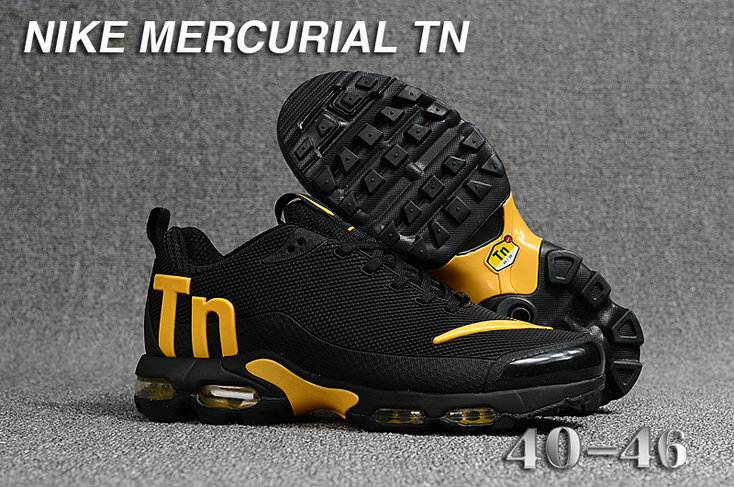 Cheap Wholesale Nike Mercurial Air Max Plus TN Yellow Black- www.wholesaleflyknit.com