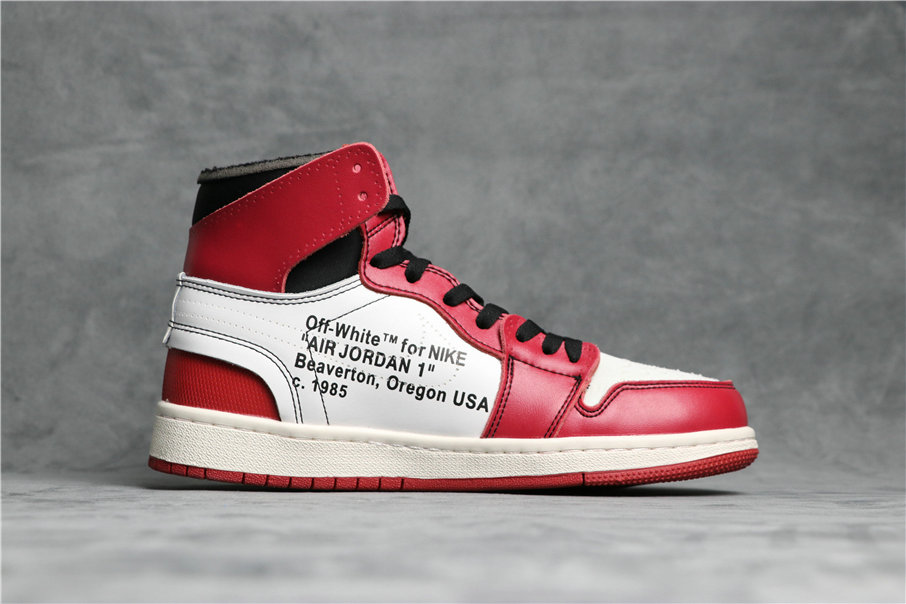 Cheapest Wholesale Nike OFF-WHITE x Air Jordan 1 Retro High OG 10X Red Black White AA3834-101 - www.wholesaleflyknit.com