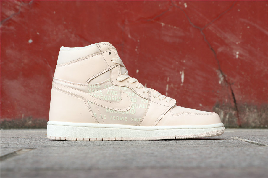 Cheapest Wholesale Nike Off-White X Air Jordan 1 Nike Swoosh Pink White 575441-801 - www.wholesaleflyknit.com