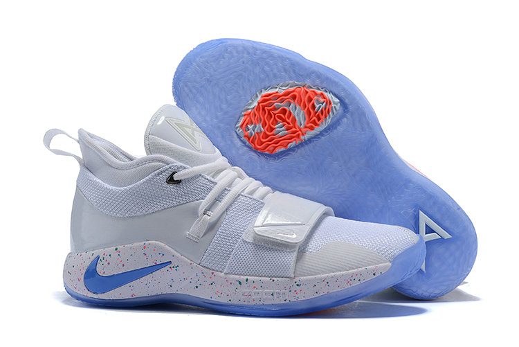 Cheap Wholesale Nike PG 2.5 EP Basketball White Blue Pink - www.wholesaleflyknit.com