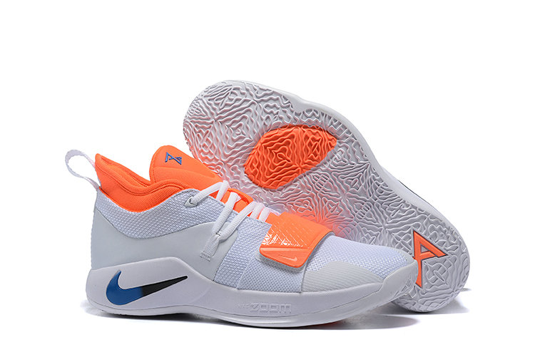 Cheapest Wholesale Nike PG 2.5 Team Orange White Blue Black - www.wholesaleflyknit.com