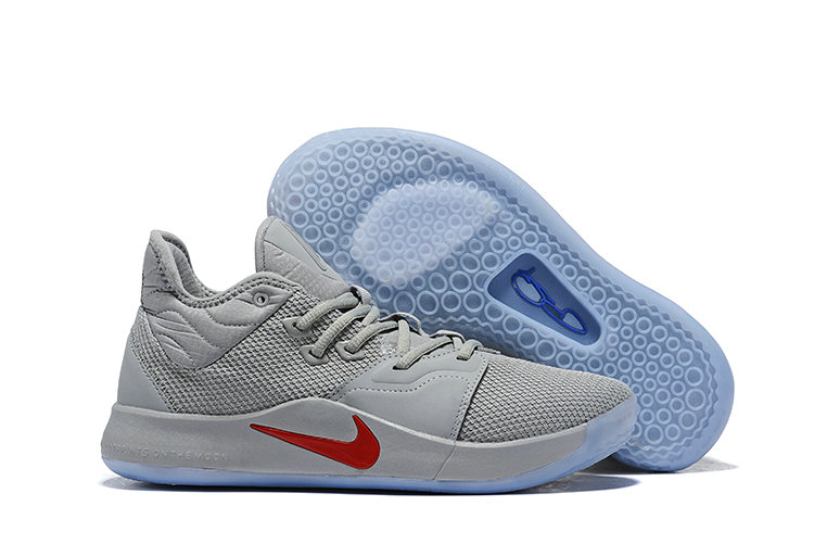 Wholesale Cheap Nike PG 3 Grey Red Blue-www.wholesaleflyknit.com
