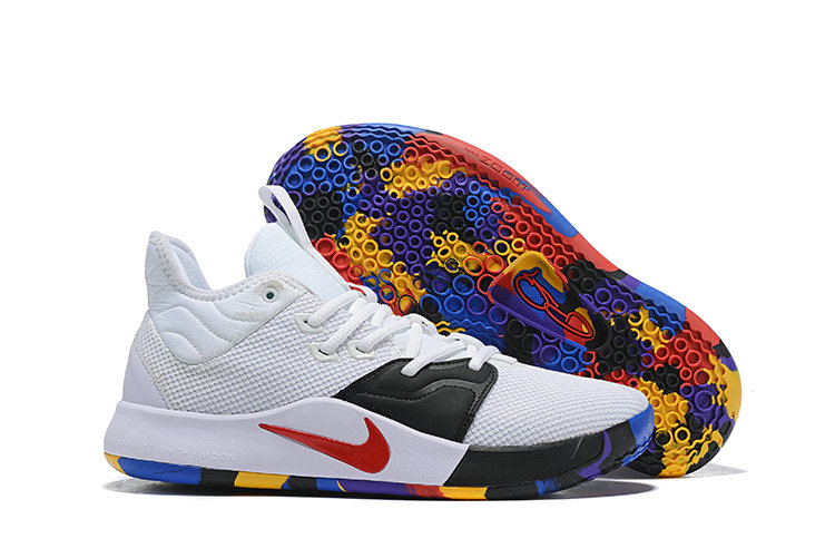 Wholesale Cheap Nike PG 3 White Black Red Colorful-www.wholesaleflyknit.com
