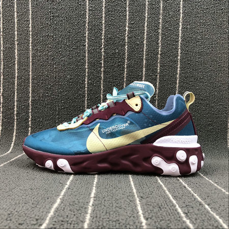 Cheapest Wholesale Nike React Element 87 Undercover Aqua Volt Purple Blue Bleu Volt Bleu Violet - www.wholesaleflyknit.com