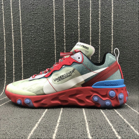 Cheapest Wholesale Nike React Element 87 Undercover Cream ColorRed White Big Red Beige Blanc Rouge - www.wholesaleflyknit.com