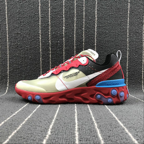 Cheapest Wholesale Nike React Element 87 Undercover Hyaline Big Red White Blanc Transparent Rouge - www.wholesaleflyknit.com