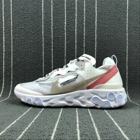 Cheapest Wholesale Nike React Element 87 Undercover Hyaline Big Red-White Blanc Transparent Rouge Blanc - www.wholesaleflyknit.com