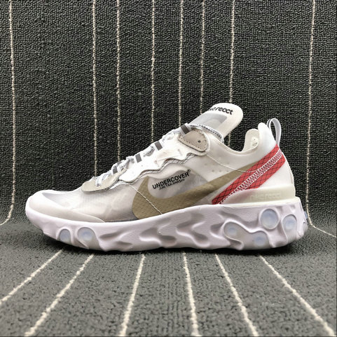 Cheapest Wholesale Nike React Element 87 Undercover White Black Red Noir Rouge - www.wholesaleflyknit.com