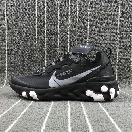 Cheapest Wholesale Nike React Element 87 Undercover White Noir Blanc Black - www.wholesaleflyknit.com
