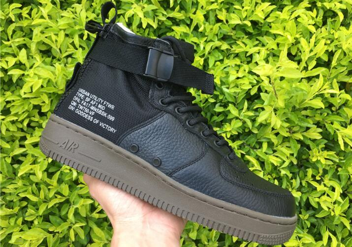 Wholesale Cheap Nike SF-AF1 Mid Hazel Black Cargo Khaki For Sale - www.wholesaleflyknit.com