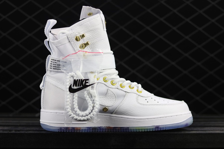 Wholesale Cheap Nike SF-AF1 Mid Lunar New Year White Habanero Red For Sale - www.wholesaleflyknit.com