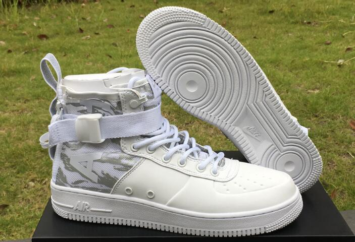 Wholesale Cheap Nike SF-AF1 Mid White Tiger Camo White Reflect Silver For Sale - www.wholesaleflyknit.com