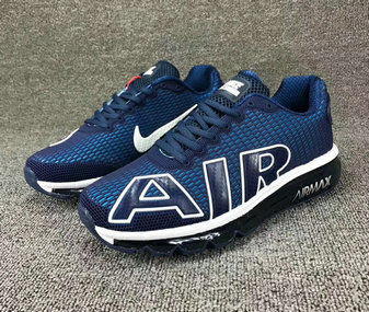 Wholesale Cheap Nike SportWear Mens Air Max Flair Royal Blue White - www.wholesaleflyknit.com