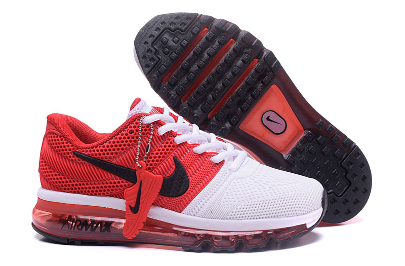 Wholesale Cheap Nike Sportwear Air Max 2017 Womens Red White Black - www.wholesaleflyknit.com