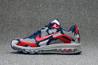 Wholesale Cheap Nike WMNS Air Max 2017 CamouFlage Red Blue Grey - www.wholesaleflyknit.com
