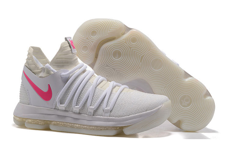 Wholesale Cheap Nike Zoom KD 10 White Pink Glow in the Dark For Sale - www.wholesaleflyknit.com